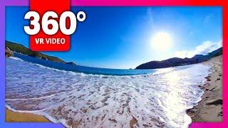Ocean sounds, wave, sea, nature – meditation, sleep music, relaxing | Camera 360, 4K video VR