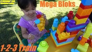 Unboxing Mega Bloks Learn how to count Train, 1-2-3 Counting Train