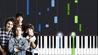 "5 Seconds Of Summer - ""Empty Wallets"" Piano Tutorial - Chords - How To Play - Cover"