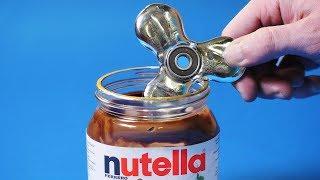EXPERIMENT Fidget Spinner VS Nutella