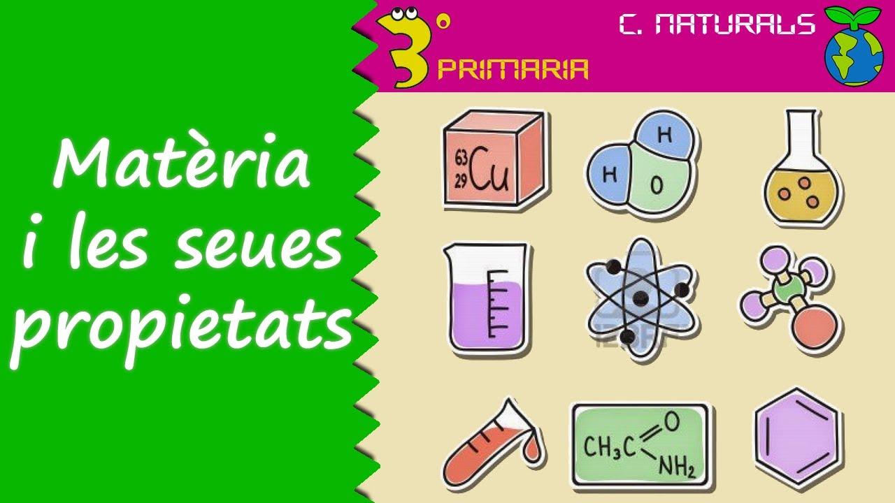 Ciències de la Naturalesa. 3r Primària. Tema 6. La matèria i les seues propietats.