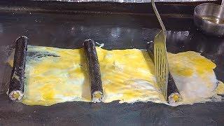 Egg Rolled Omelet Gimbap - Korean Street Food