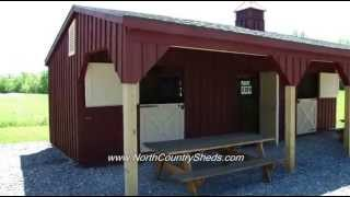 EQUINE | 10 X 32 SHED ROW HORSE SHELTER | RUN IN HORSE BARNS | OTTAWA, ONTARIO