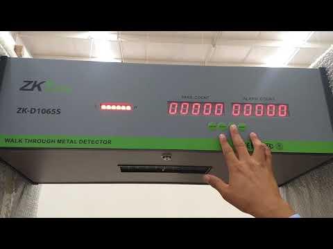 ZKTeco – Cambiar Contraseña de Arco Detector de Metales ZK-D1065S