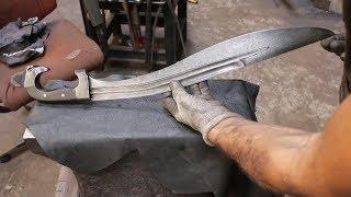 Forging a Falcata sword, part 2, making the handle.