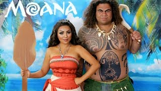 DISNEYS MOANA & MAUI!!!