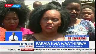 Viongozi kinamama kutoka Kisumu watembelea mtoto aliyegongwa na risasi