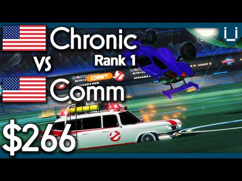 Comm vs Chronic (Rank 1) | $266 Rocket League 1v1