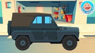 Мультик про машинки - Внедорожник - Путешествие в Джунглях