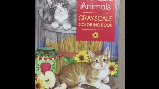 Adorable Animals Grayscale Coloring Book Flip Through