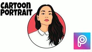 Cartoon Portrait Logo || Picsart Tutorial