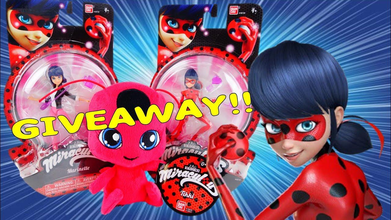 GIVEAWAY - Miraculous Ladybug Toys - Marinette and Ladybug Dolls, Tikki Plush