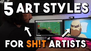5 GREAT Game Art Styles For BAD Artists