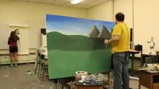 """Speed Painting- """"The Last Viking"""" A comedy self portrait by Jackson Donovan"""