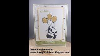 Stampin Up Party Pandas Baby Card