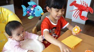 Chị Đưa Em Đi Săn Và Học Các Con Vật Rau Củ Quả 💎 AnAn ToysReview TV 💎