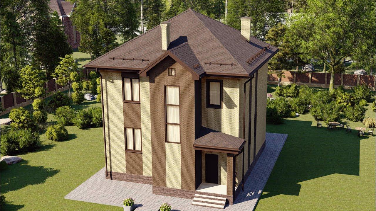 Проект двухэтажного дома до двухсот метров