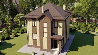 Проект дома 190-B, Площадь дома: 190 м2, Размер дома:  10,1x11,9 м
