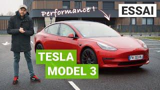 Essai Tesla Model 3 Performance 2021 : on monte à 240 km/h sur autoroute !