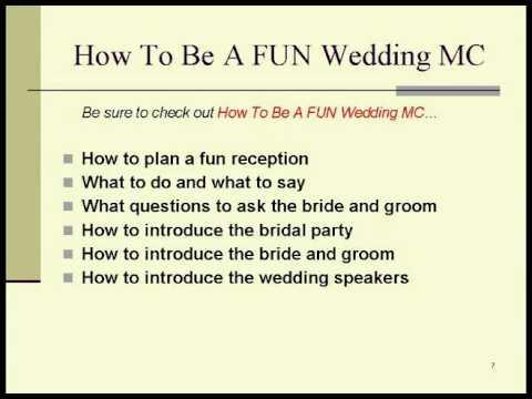 Wedding Mc Wedding Mc Checklist