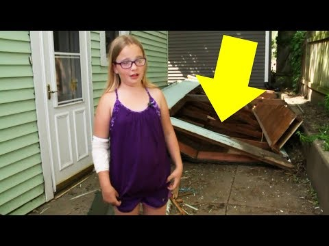 Shed Collapses On Father's Head, But His Kids Know Exactly What To Do