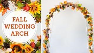 Fall Wedding Arch | Autumn Wedding Ideas | BalsaCircle.com