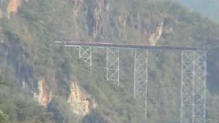 preview picture of video 'Train on Gotiek Rail Viaduct, Burma (Myanmar)'