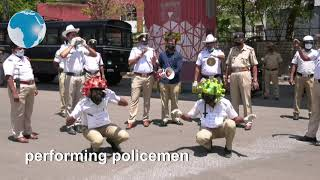 Indian police dance and get creative to boost coronavirus awareness