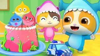 Baby Shark - Birthday Party | Baby Shark Dance | Nursery Rhymes | Kids Songs | Kids Cartoon |BabyBus