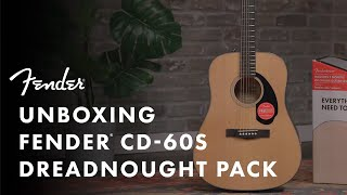 Unboxing The Fender Acoustic Guitar Starter Pack | Fender