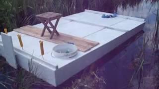 Плот из пенопласта для рыбалки