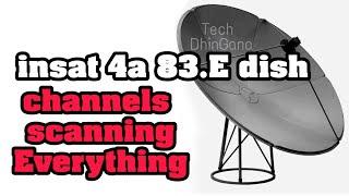 insat 4a 83-0°e C Band And KU Band Dish Setting Free channel