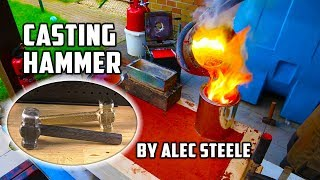 Casting Brass Hammer From Bullet Shells | Forged By Alec Steele - Video Youtube