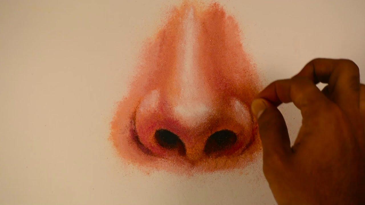 basic portrait rangoli design tutorial