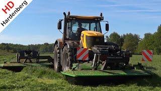 JCB Fastrac 8250 Vario Mowing Grass With Triples | Deel 2 | Uddel | Netherlands | 2014.