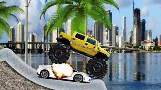 Monster Truck Destroyer - Monster Truck Game Complete all 3 Levels