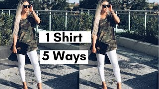 1 Outfit 5 Ways | HOW TO Wear Camo & Outfit Inspo