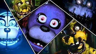 Five Nights At Freddy's 1 2 3 4 5 6 All Jumpscares | FNAF Series