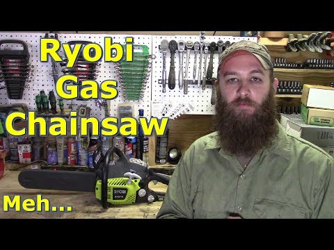 Ryobi 37cc Gas Chainsaw Review by @GettinJunkDone…It's OK