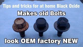 0632 DIY At Home Original Black Oxide Phosphate OEM Restoration Of Nuts Bolts