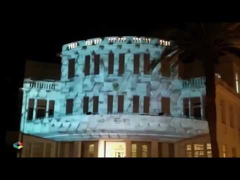 וידאו מאפינג על בניין בית העיר תל אביב