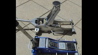 How to use a Floor jack or a scissor jack