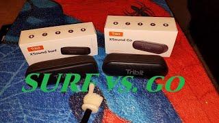 Tribit XSound Surf vs. XSound Go (Upgraded Model) Bluetooth Speaker Sound Comparison.