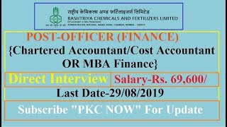 RCFL Recruitment 2019 I Chartered Accountant/Cost and Management Accountant Jobs