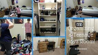 Organize With Me! A Teenage Boys Room!