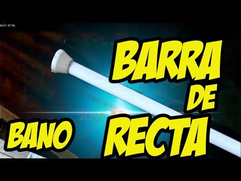 BARRA DE CORTINA DE BAÑO  RECTA .
