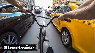 Это вам не GoPro BMX STREET RIDING IN MOSCOW | Врываемся по пробкам | Макс Чуприна