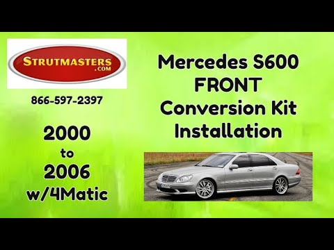 2003-2006 Mercedes S 500 4MATIC With An Air Suspension Conversion By Strutmasters / Front Install