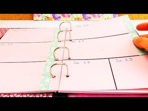 DIY Kalender selber machen (TEIL 4) | Planer gestalten und Seiten einteilen