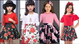 Most Beautiful Stylish And Outstanding Little Girls Skirts /Skater Dress Design